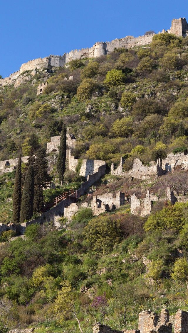 At the Medieval city of Mystras in Peloponnese, Greece