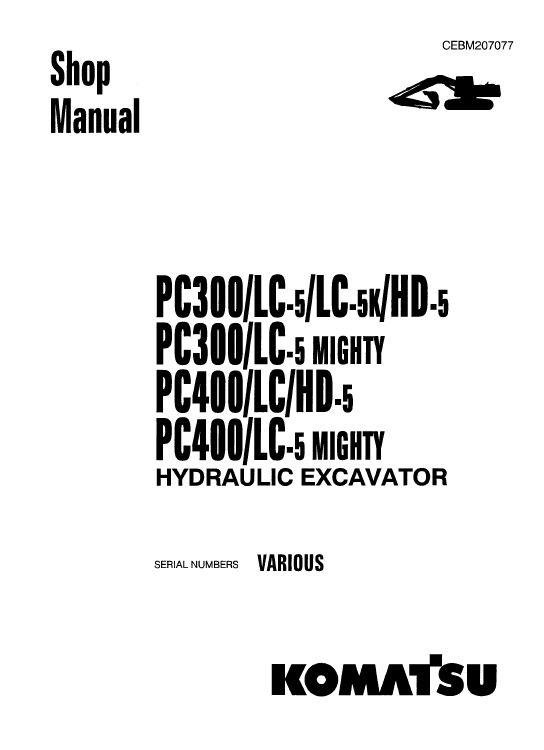 Komatsu PC400-5, PC400LC-5, PC400HD-5 Excavator Service