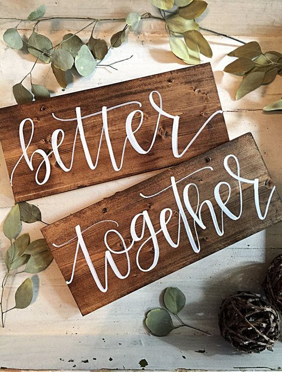 Better Together Sign  Better Together Chair by SalvagedChicMarket