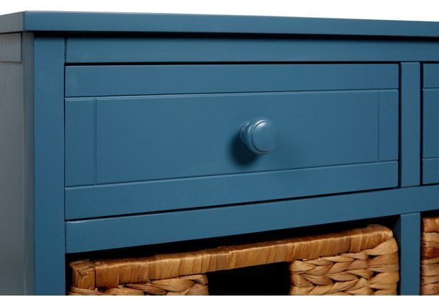 Blue 6-Drawer Storage Cabinet