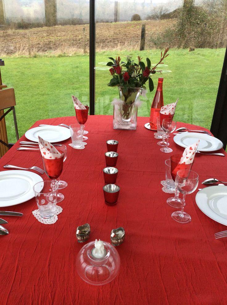 Table Pour St Valentin Avec Serviettes En Papier C Ur