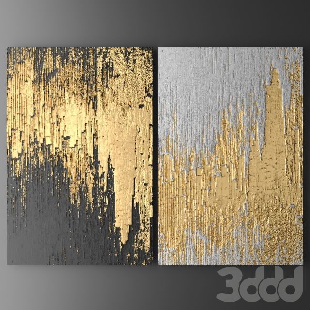 3d id e peinture d corative for Gold wall paint uk