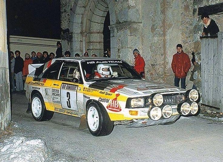 1985 MONTE CARLO RALLY - Audi Quattro Sport. Entrant: Audi Sport. Drivers: Walter Rohrl / Christian Geistdorfer. Place: 2nd o/a.