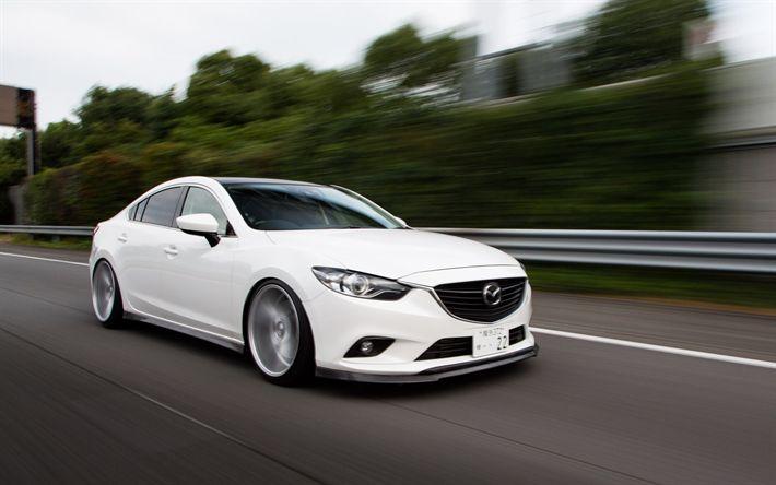 Download imagens Mazda 6, ajuste, Vossen, movimento, Mazda6, carros japoneses, Mazda