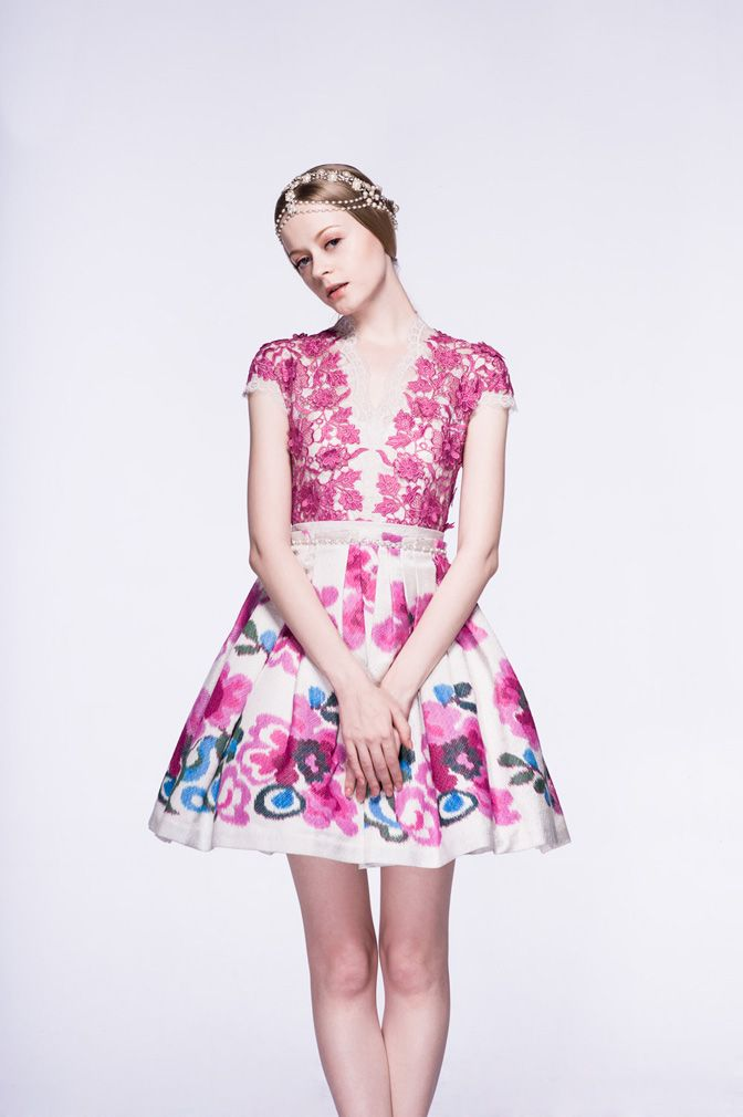 Indonesian Designer Sebastian Gunawan? Thinking of prada lace and ikat combo for inspiration