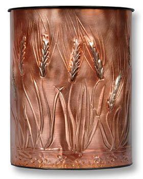 Hentzi Wheat Copper Waste Basket