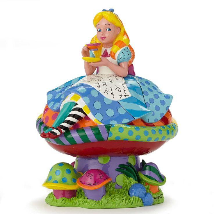 ✿ DISNEY Romero Britto Figurine Alice in Wonderland