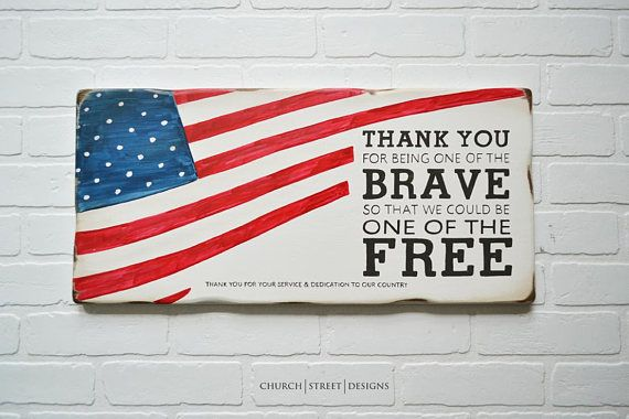 Military Thank You Sign Wooden Flag Retirement Gift Wooden Flag