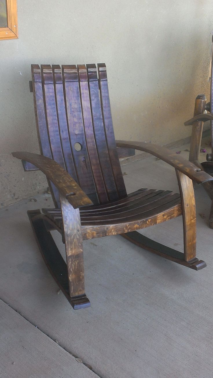 the pretty rocking chair in the basement
