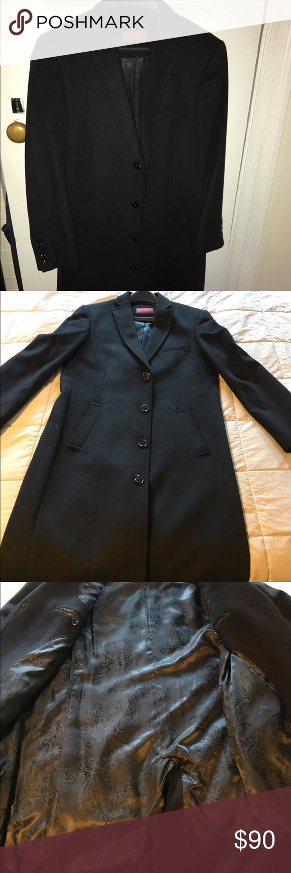 Men's Full Length Mantoni Dress Coat I'm selling a lightly used Mantoni Dress Coat, Size 38R. It's intended to go down to the knees and covers a sport coat or sweater for formal occasions! Mantoni Jackets & Coats Pea Coats