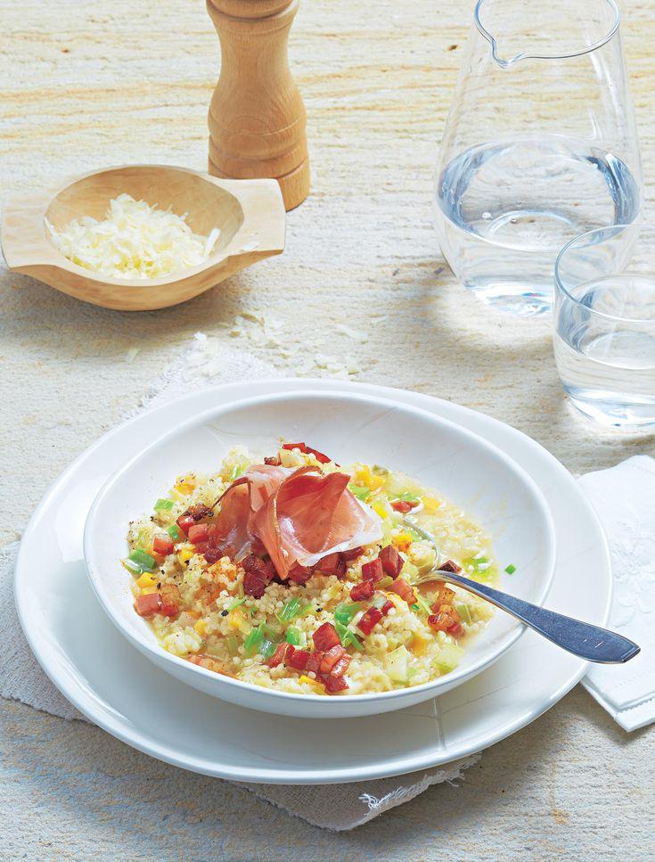 Risotto immer nur aus Reis zubereiten? Das ist uns zu langweilig. Wir nehmen heute mal Perlgrauben und freuen uns über ein herrlich deftiges Gericht!