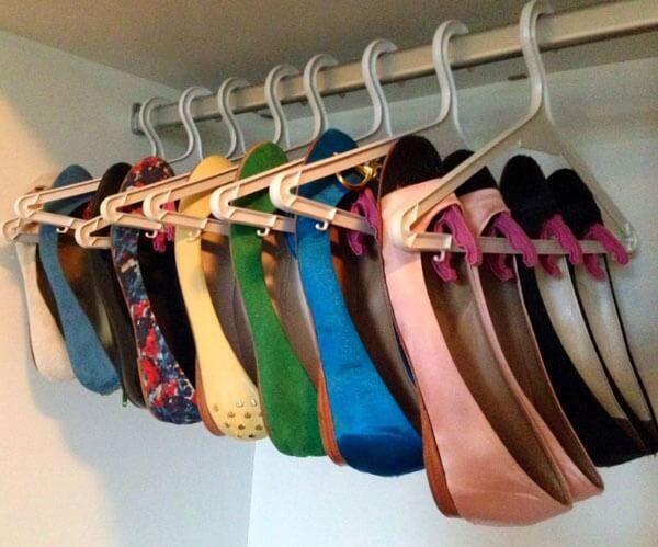 Die Idee, Schuhe zu organisieren