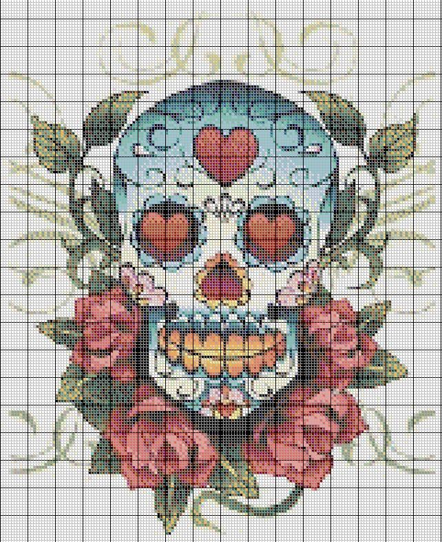 COSTURAS STEPHANY : Patrones De Punto de Cruz del Dia de los Muertos                                                                                                                                                      Más