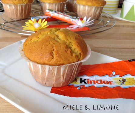 Muffin+al+cioccolato+Kinder+-+ricetta+facile+e+veloce