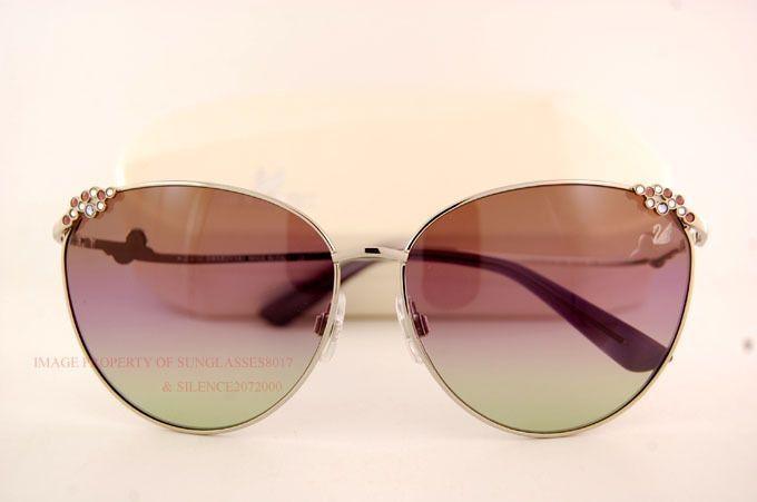 Brand Swarovski Sunglasses Sk 0026 16Z Silver/Gradient Brown For Women