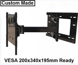 "Custom made LG 55EG9100 55"" Smart TV ready wall mount with incredible 31.5"" extension. This super long extending TV mount with its 31.5"" long arm allows 180º swivel left/right and tilt capabilities. The two piece designed wall plate attaches to studs on 16"" centers.LG 55EG9100 wall mount bracket requirements fit VESA 200x340x195mm mounting holes on back of the TV"