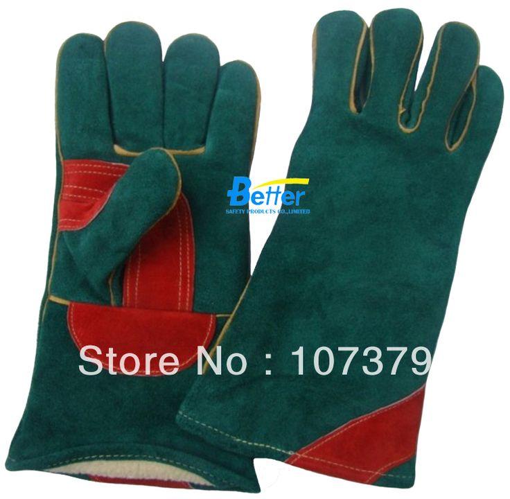 Работы Перчатки Защитные Перчатки, Краги Сварочные TIG MIG Перчатки Теплые Зимние Перчатки Сварщика