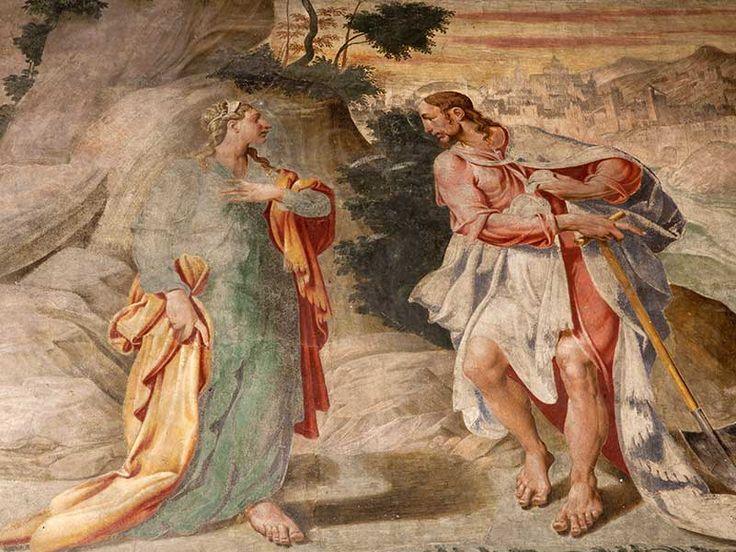 Magdalena noli me tangere Mural, fresc de l'esglesia de Santa Maria della Grazie Milan