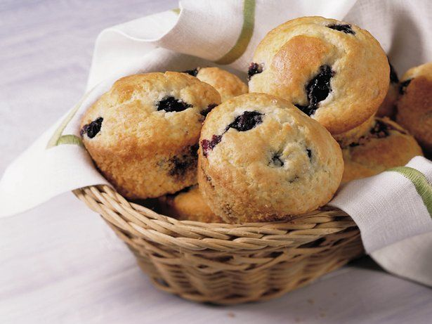 Blueberry Muffins made with Bisquick.  Super yummy, super easy, super fast!  Made 'em twice this week 'cause they disappeared so fast the first time!