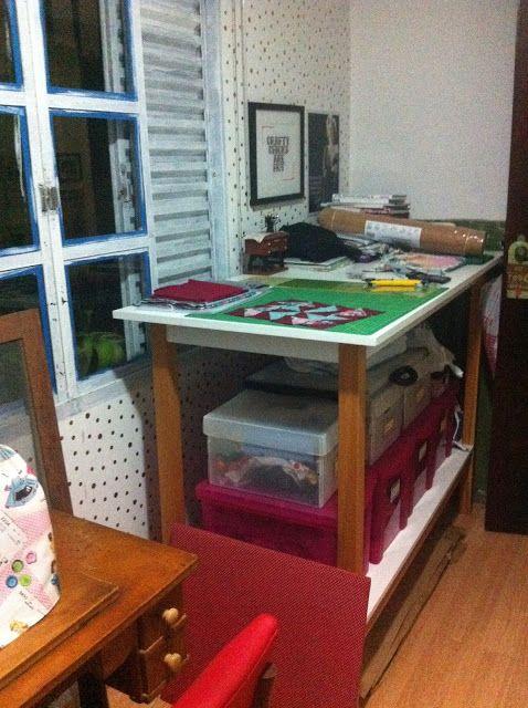 Costura Katia, Costura!: Meu ateliê: Mesa de Corte (e pesos para tecidos)