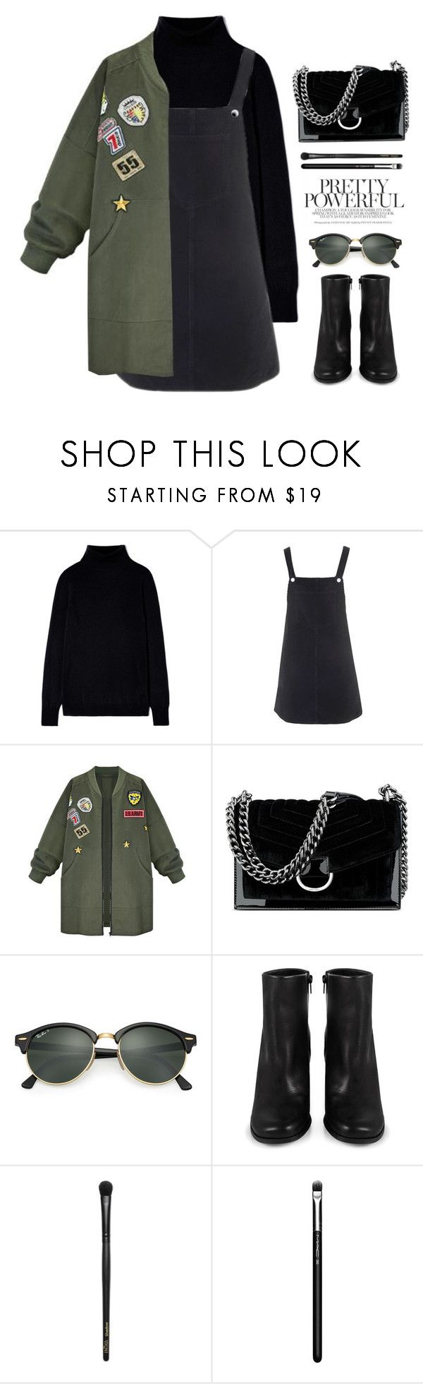 """Untitled #433"" by ino-6283 ❤ liked on Polyvore featuring Topshop, WithChic, Nine West, Ray-Ban, Miista, INIKA and MAC Cosmetics"