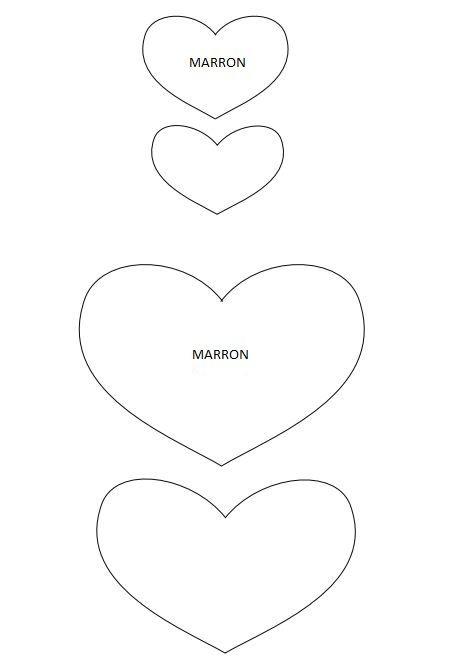 molde de corazon para imprimir - Buscar con Google