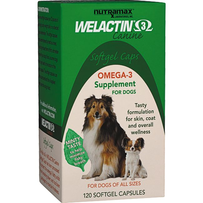 Welactin is a rich source of omega-3 fatty acids derived from cold water fish. Welactin is formulated to deliver substantial levels of EPA and DHA to dogs and have been identified as healthy fatty aci