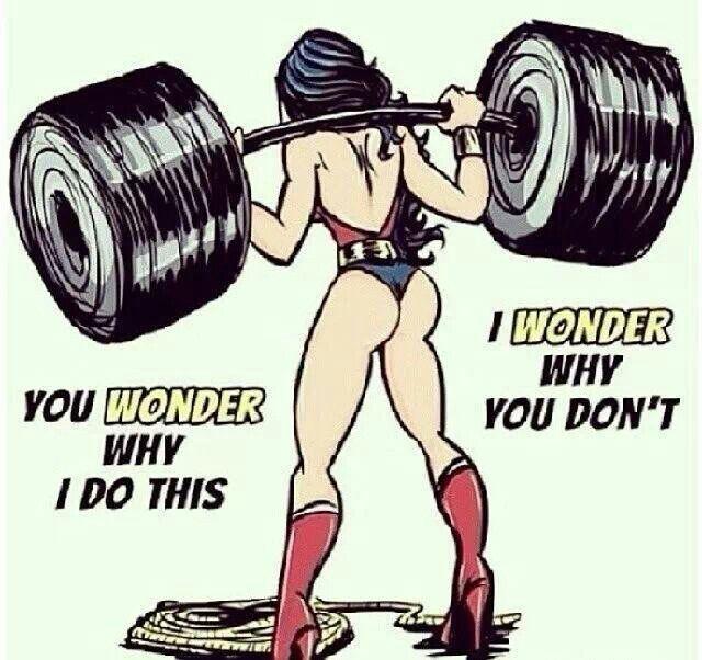 Wonder Woman Fitness Quotes: Wonder Woman Squats!
