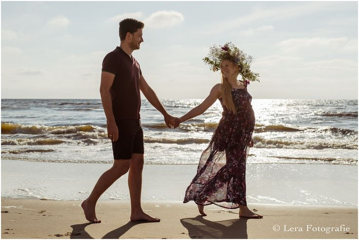 zwangerschapsfotografie op het strand