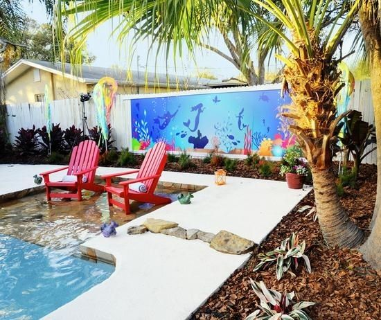 123 best beach porches patios yards images on pinterest for Backyard beach ideas