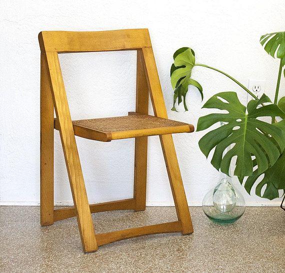 Vintage Aldo Jacober Folding Chair Trieste Alberto Bazzani Italy
