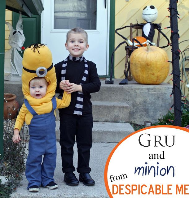Running With Scissors: Gru and Minion Halloween Costume......hmmm Noah said he might want to be Gru....