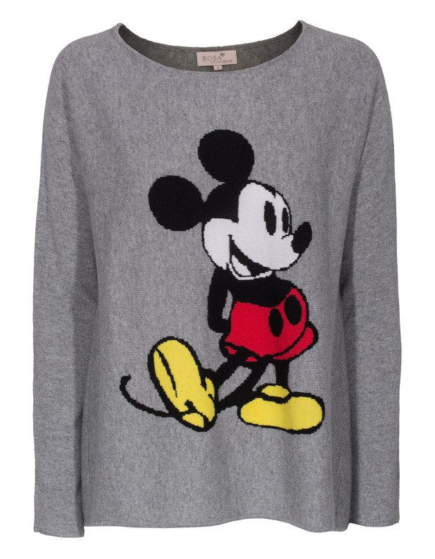 Rosa von Schmaus Mickey OS Grey Patterned cashmere sweater - Pullover
