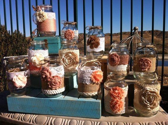 100 RUSTIC BARN WEDDING Centerpieces. Woodsy Wedding. Farmhouse Wedding Decor. Rustic Wedding Centerpieces. Decorative Mason Jars on Etsy, $675.00