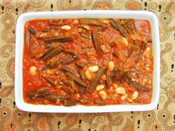 Middle Eastern Okra and Tomato Stew, from Chilli and Mint blog