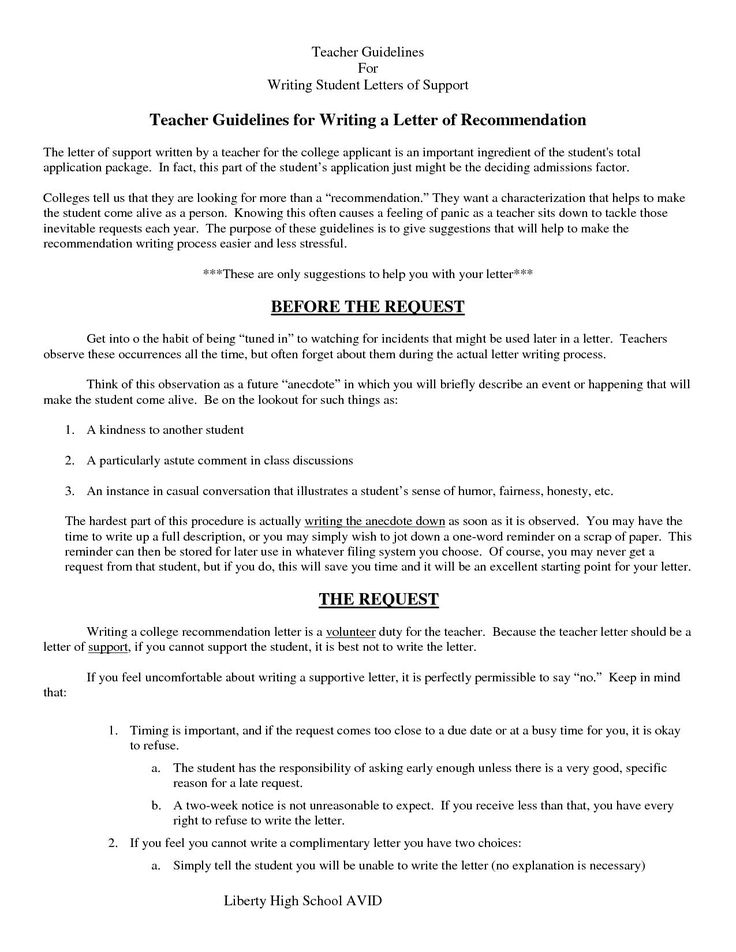 8.Sample letter recommendation written by a teacher