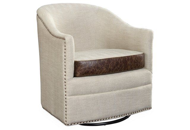 Madison Swivel Chair, Taupe