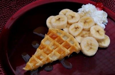 Fun kids food - Ice cream sundae waffles :)