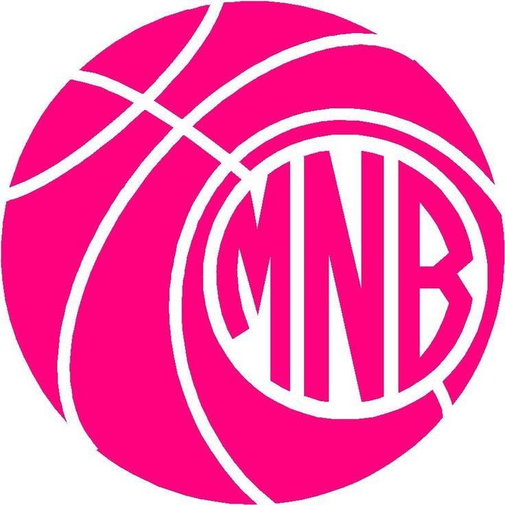 "Personalized Basketball Circle Monogram Decal Vinyl Sticker 3 25"" Yeti Car | eBay"