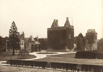 Kilmarnock - Dean Castle ~ Kilmarnock,  Ayrshire, Scotland.  Before Restoration. It remained without repair for 200 years after the fire of 1735.