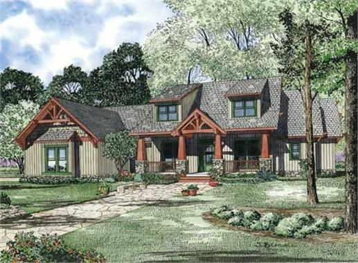 These Craftsman Houseplans have main level laundry hook-ups!