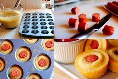 Muffins salados de salchicha - Recetín