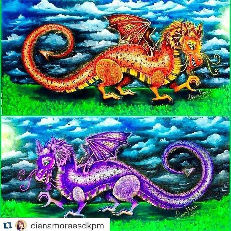 Dragoes Espetaculares By Dianamoraesdkpm Dragaoflorestaencantada Enchantedforest Dragon Johannabasford