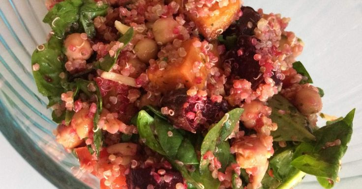 Roasted beetroot, sweet potato and quinoa Salad