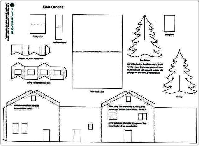 martha stewart winter village template | photo ...
