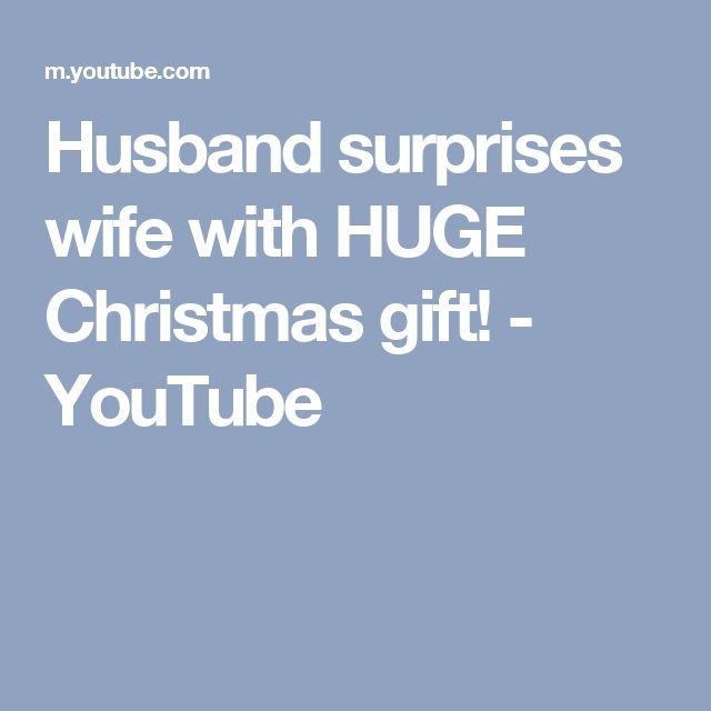 Husband surprises wife with HUGE Christmas gift! - YouTube