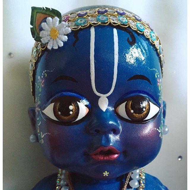 He's my favourite ❤️ #myart #art #dolls #radha #krsna #babies #cute