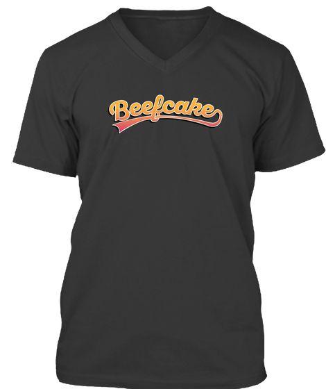 Beefcake t-shirt with orange text.  #beefcake #shirt #teespring #slang #muscular #mass