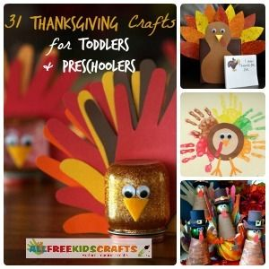 31 Thanksgiving Crafts for Toddlers + Preschool Thanksgiving…