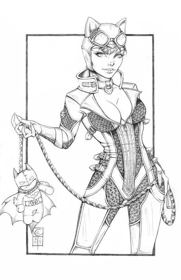 catwoman cartoon coloring pages - photo#19